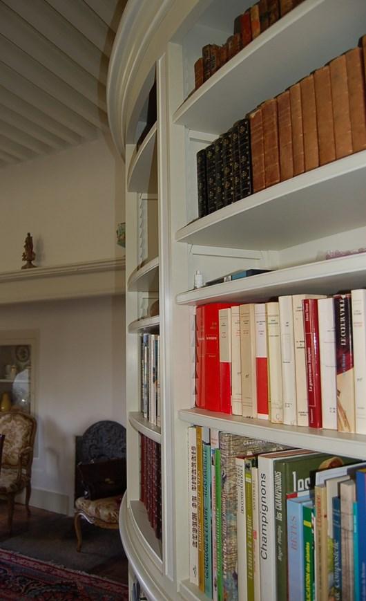 Bibliothèque Directoire cintrée